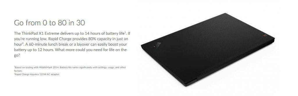 батарея Lenovo ThinkPad X1 Extreme (Gen 2)