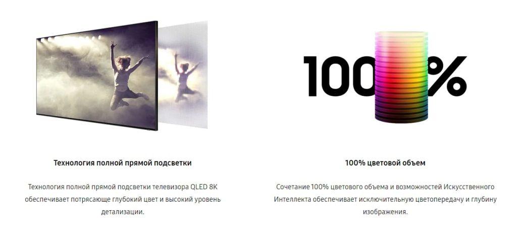 Samsung Q950 8K QLED цветопередача