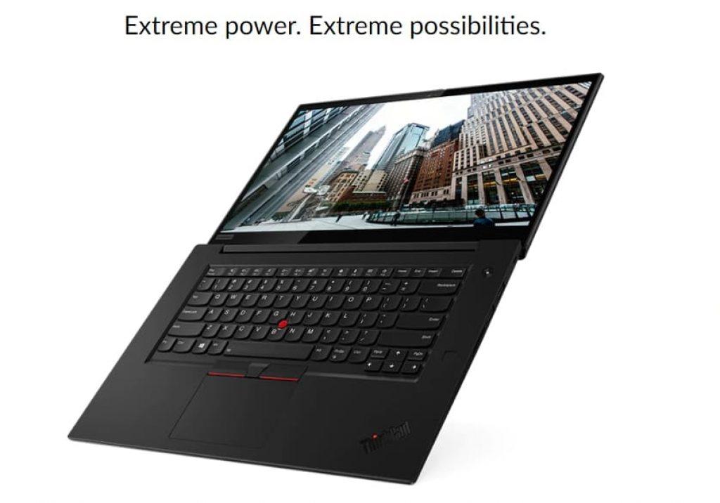 вид Lenovo ThinkPad X1 Extreme (Gen 2)